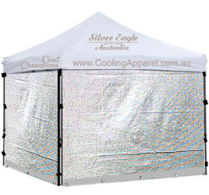 Silver Mesh Show Trolley and Marquee Walls