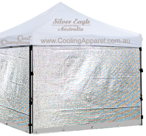 Silver Mesh Side Wall for Compact Gazebo