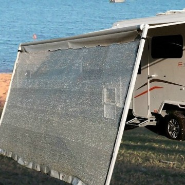 Silver Mesh Privacy Caravan Screen